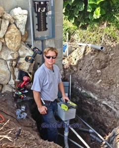 Electrical Contractor, Glenn Goodiel, Installing Residential pool circuit panel