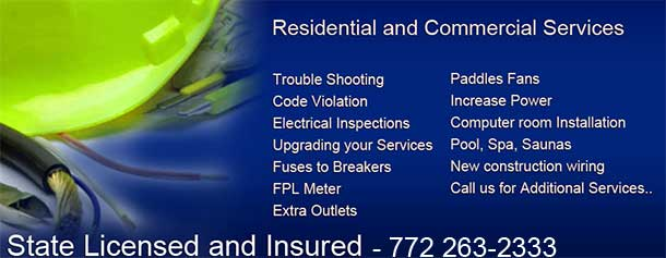 Call Jensen Beach Electrician and Electrical Contractor Glenn Goodiel.