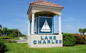 Lake Charles at St. Lucie West, Florida.